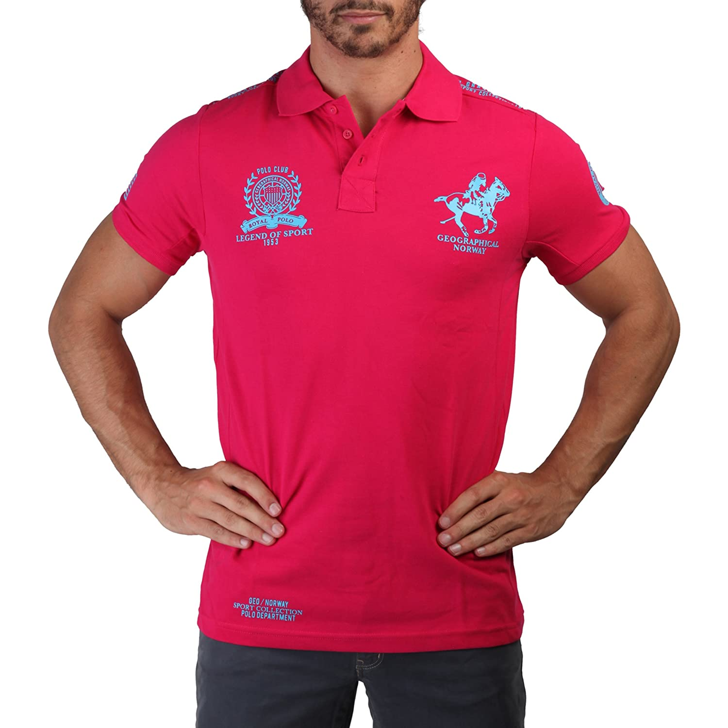 GEOGRAPHICAL NORWAY Polo hombre Kentucka rosa - hombre - L: Amazon ...