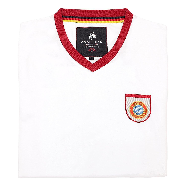 Coolligan - Camiseta de Fútbol Retro 1965 GERD Müller - Color - Blanco - Talla - XXL: Amazon.es: Ropa y accesorios