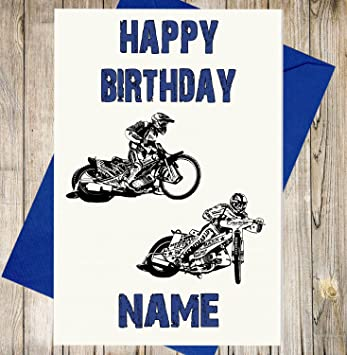 Speedway Birthday Card Any Name And Age Amazon Kitchen Home