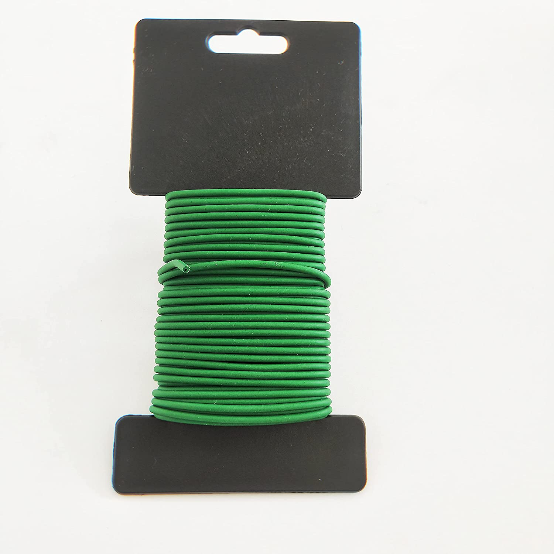 Garden Plant Twist Tie, Heavy Duty Soft Plant Wire Tie for Gardening,Garden Wire for Plant Home, Office (Green, 32.8ft)