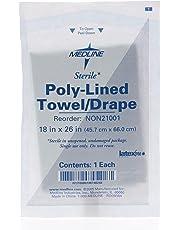 "Medline NON21001 Sterile Disposable Drapes, 18"" x 26"" (Pack of 300)"
