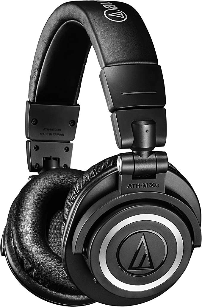 Amazon Com Audio Technica Ath M50xbt Wireless Bluetooth Over Ear Headphones Black With Exceptional Clarity Comfort And 40 Hr Battery Musical Instruments