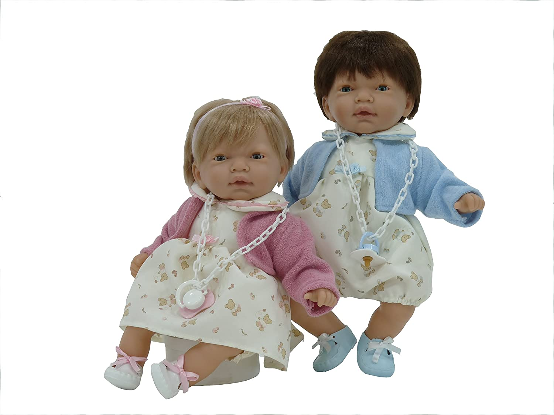 Nines Artesanals dOnil - Nines Mellizos, 2 muñecos bebé con Chupete (582)