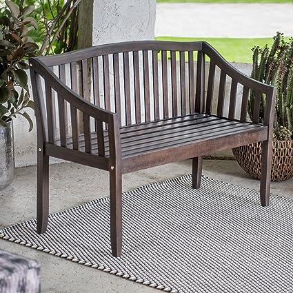 Outstanding Amazon Com 4 Foot Dark Brown Finish Eucalyptus Wood Curved Ibusinesslaw Wood Chair Design Ideas Ibusinesslaworg