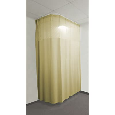 16Ft Medical Privacy Flexible Curtains High Ceiling Hospital Lab Clinic Curved Room Decorative W Track