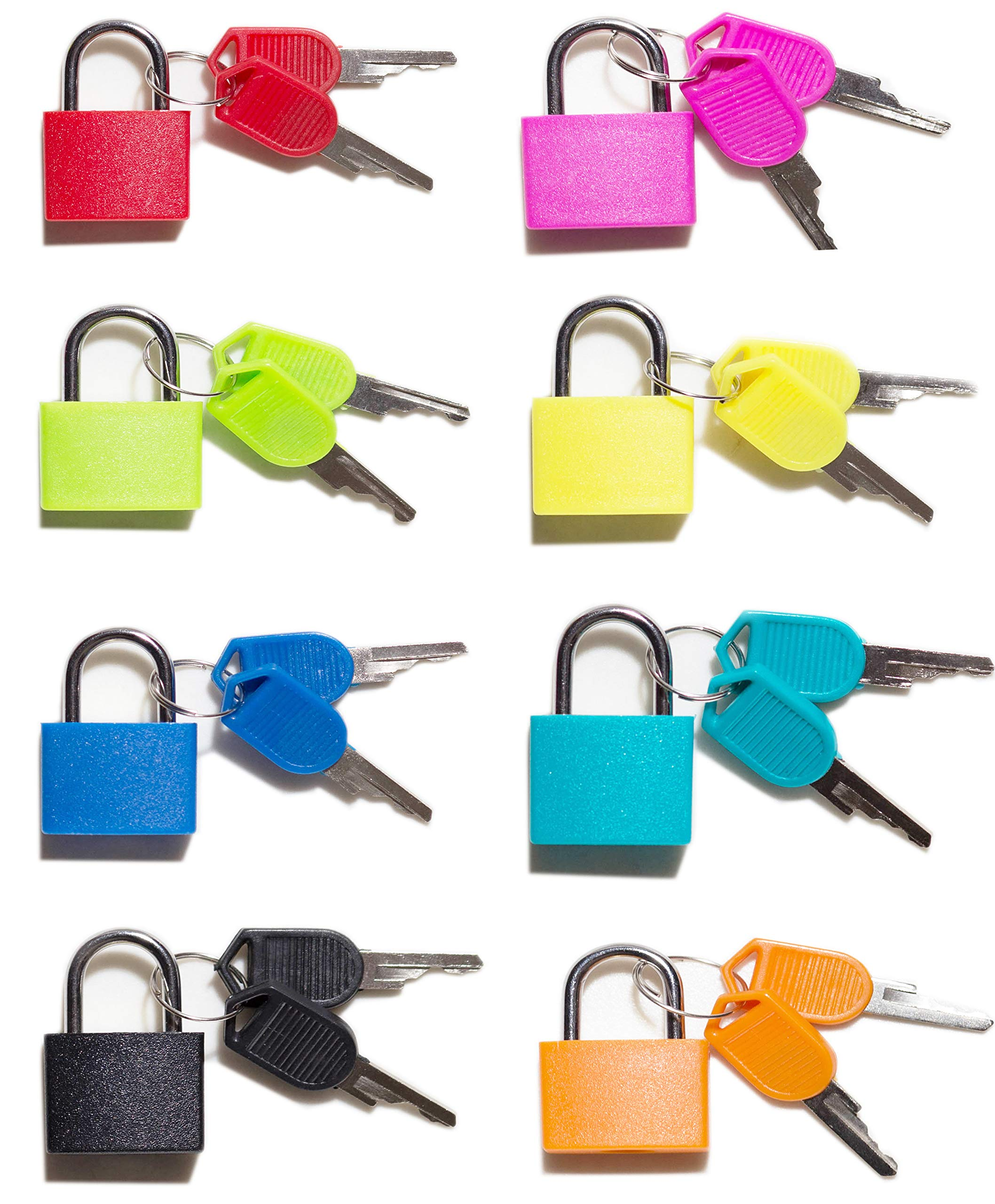 Padlock, (8 Pack) Small Padlock with Key for The Luggage Lock, Backpack,Gym Locker Lock,Suitcase Lock,Classroom Matching Game and More (Multicolor)