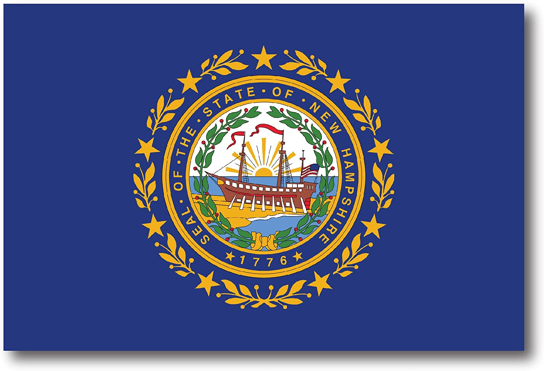 New Hampshire Car Magnet US State Flag Refrigerator Locker SUV Heavy Duty Waterproof…