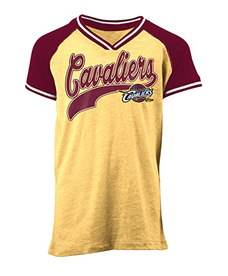 86b93f33230 Amazon.com : 5th & Ocean NBA Cleveland Cavaliers Children Girls Youth Tri  Blend Jersey V Neck Short Sleeve, M, Tri Natural Gold : Sports & Outdoors