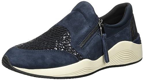 Scarpe Geox OMAYA Donna Scarpe Scarpe Basse Sneaker Blu Nuovo