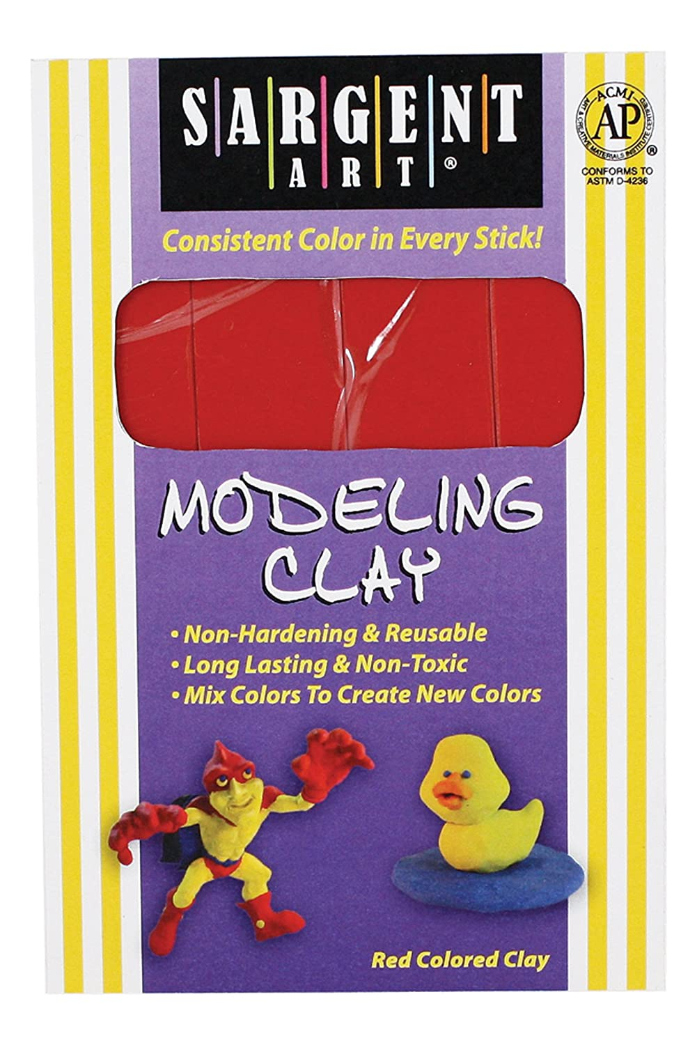 Sargent Art 22-4002 1-Pound Solid Color Modeling Clay