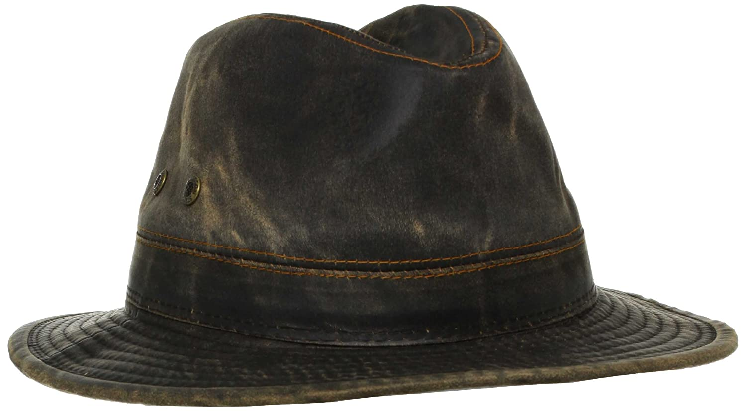 1f9957ea6dfd47 Stetson Men's Weathered Safari, Brown, X-Large at Amazon Men's Clothing  store: Fedoras