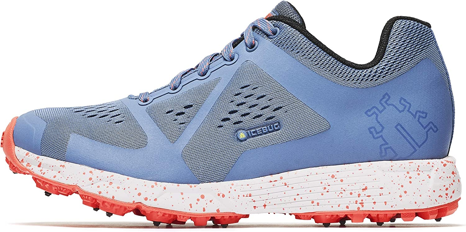 Icebug Running Shoes for Women - Studded Traction Sole for Ice and Snow: DTS4 BUGrip Womens Outdoor Training Trail Shoes