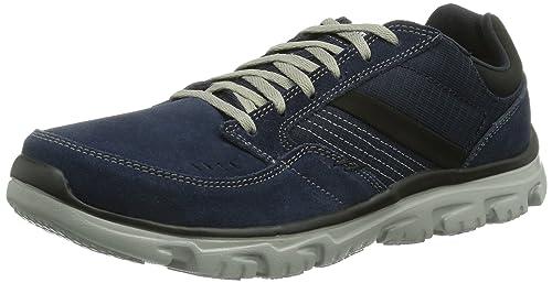 Skechers L-Fit Comfort Life, Men Low-Top, Blue (Nvgy)