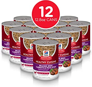 Hill's Science Diet Wet Dog Food, Adult, Healthy Cuisine, 12.5 oz, 12-Pack