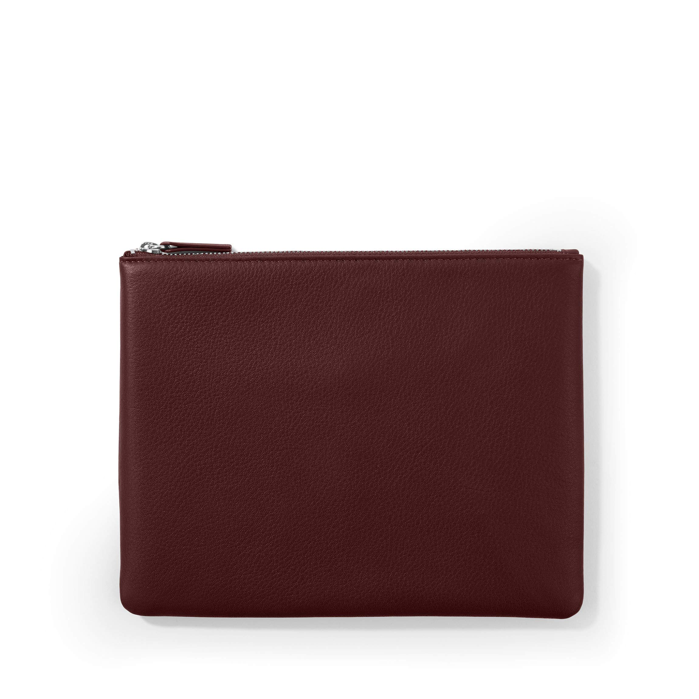 Medium Pouch - Full Grain Leather Leather - Bordeaux (Red)