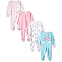 Baby Girls and Neutral 4 Pack Sleep 'N Play Footie