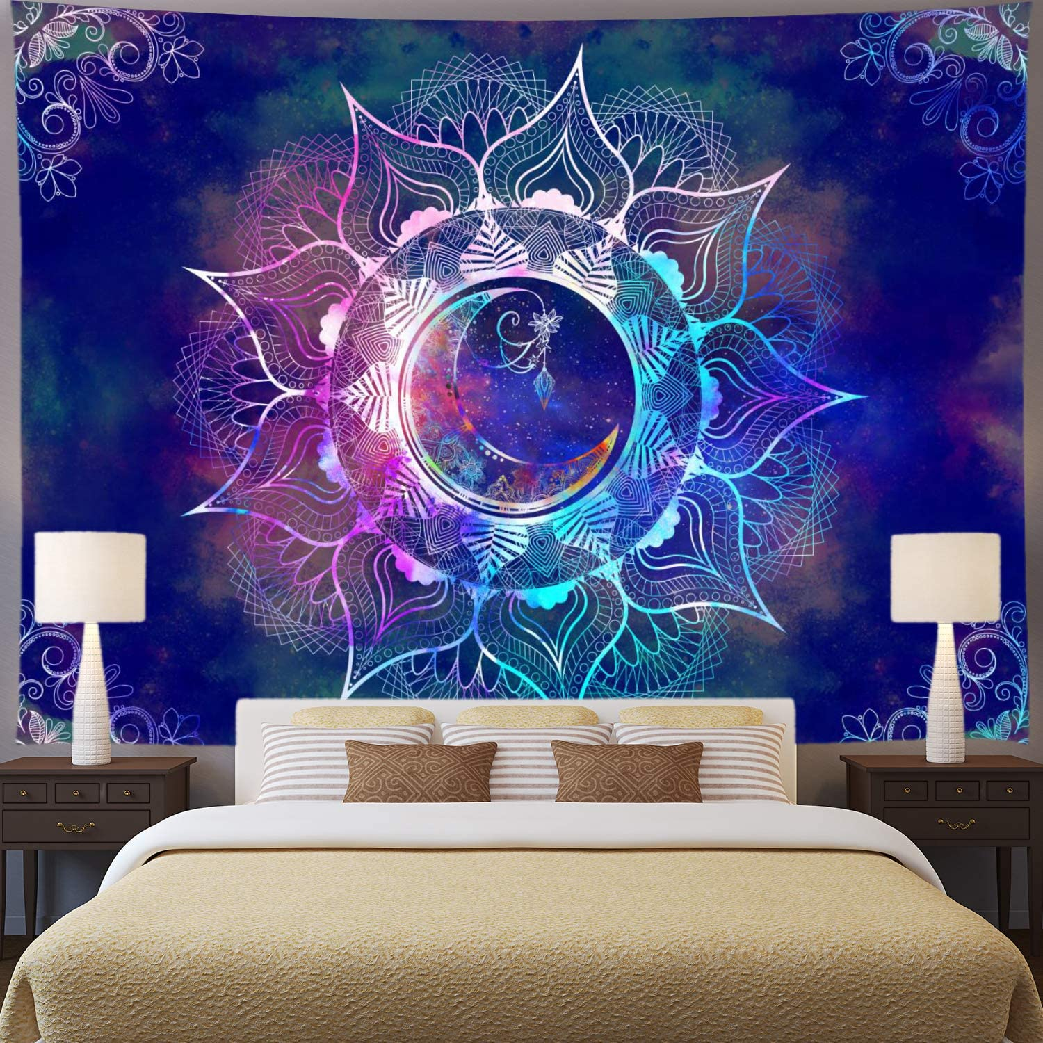Nature Tapestry Starry Sky Tapestries Hippie Mandala Wall Hanging For Home Decor