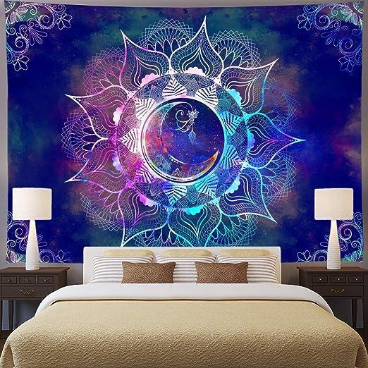 Hippie Tapestry Trippy Mandala Wall Hanging Art Room Psychedlic Tapestries Decor