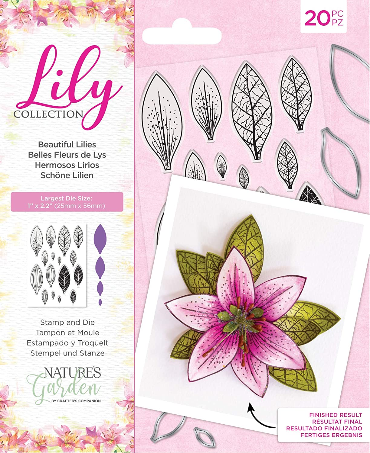 Nature's Garden Collection-Stamp and Die Set-Beautiful Lilies, Silver, Various