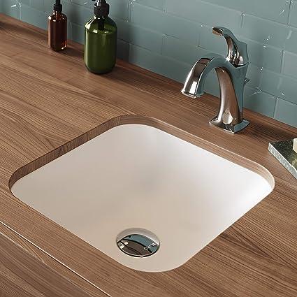 Brilliant Kraus Natura Square Undermount Composite Bathroom Sink With Matte Finish And Nano Coating In White Download Free Architecture Designs Embacsunscenecom