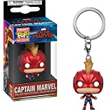 Funko Pop! Keychain Marvel: Captain Marvel Masked Toy, Multicolor