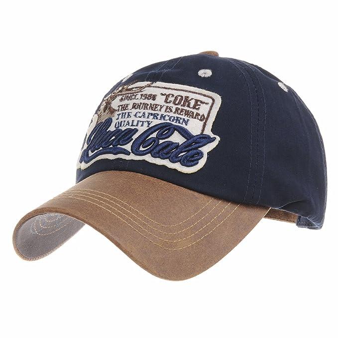 5deb963b643c3 WITHMOONS Gorras de béisbol Gorra de Trucker Sombrero de Baseball Cap  Cotton Trucker Cap Faux Leather