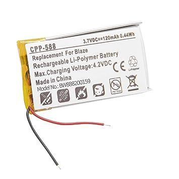 vhbw Litio polímero batería 120mAh (3.7V) para smartwatch ...