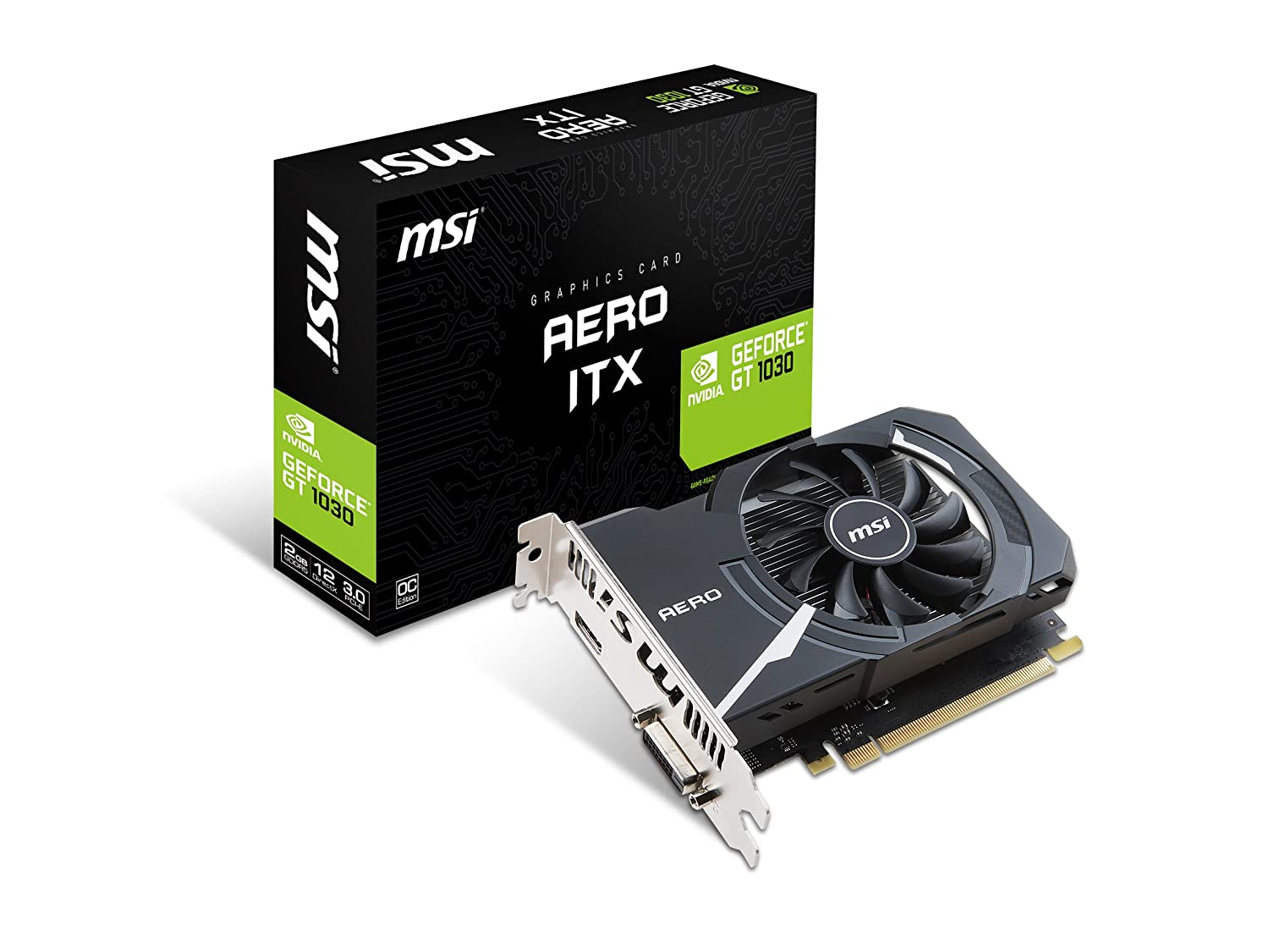 Amazon.com: MSI GAMING GeForce GT 1030 2GB GDRR5 64-bit HDCP Support  DirectX 12 ITX OC Graphics Card (GT 1030 AERO ITX 2G OC): Computers &  Accessories