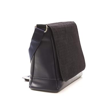 Image Unavailable. Image not available for. Color  Billionaire Couture  Men s MESSENGER NAP-VIT Bag BLUE Leather ... 93fe178837fd1
