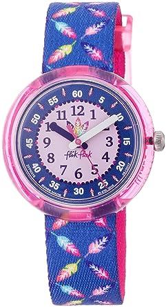 Flik Flak Reloj Analogico para niñas de Cuarzo con Correa en Tela FPNP016: Amazon.es: Relojes