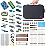 HSU Development Kit for Raspberry Pi 3 and Arduino with 16 Different Sensor Modules,Hundreds Electronic Components,other Necessary Accessories and Big Carrying Case (Advanced)