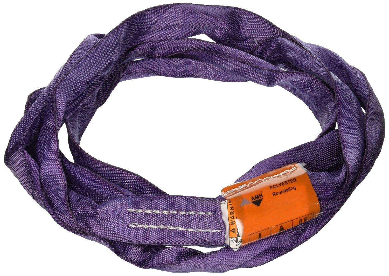 All Material Handling DR112 Endless Round Sling, 12' Length, Vertical Capacity 2600 lb, Choker-2100 lb, Basket-5200 lb, Purple
