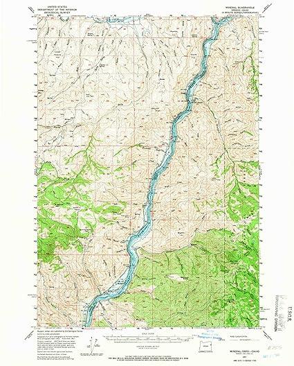 Amazon.com: YellowMaps Mineral ID topo map, 1:62500 Scale, 15 X 15 ...