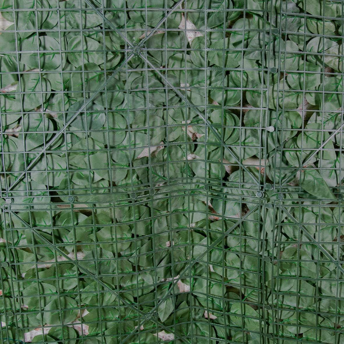 GardenKraft 26120 3 m x 1 m Artificial con Hojas de yedra Oscura ...