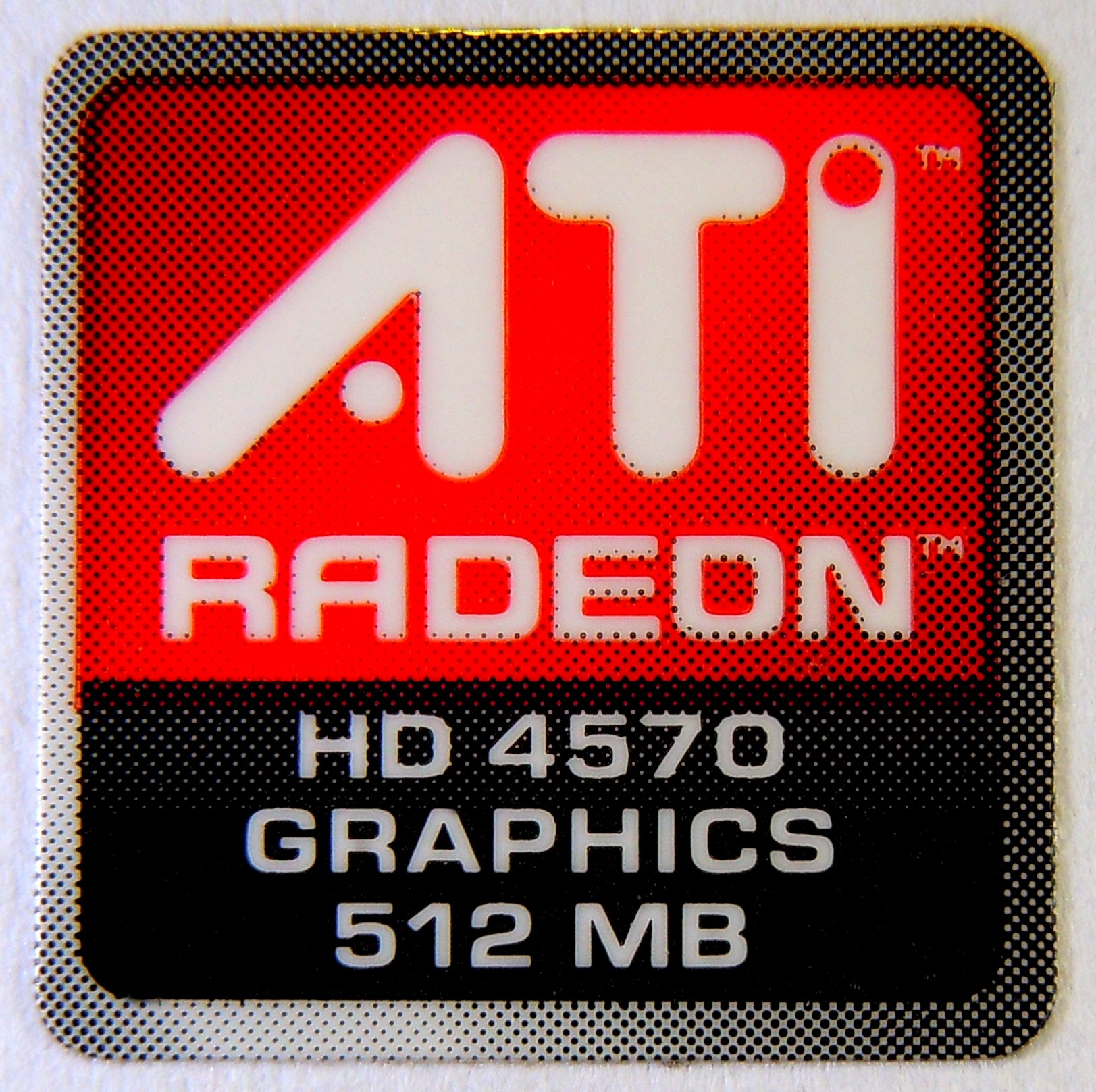 Original ATI Radeon HD4750 Graphics 512MB Sticker 16 x 16.5mm [280]