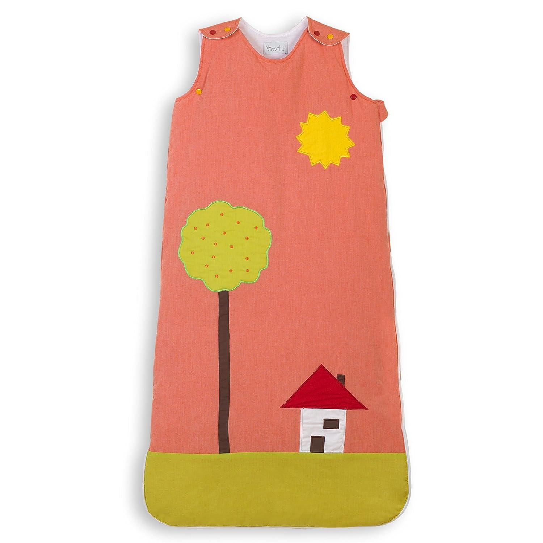 0-6 meses // 70 cm - 1 Tog NioviLu Design Saco de dormir para beb/é Pintura Alegre