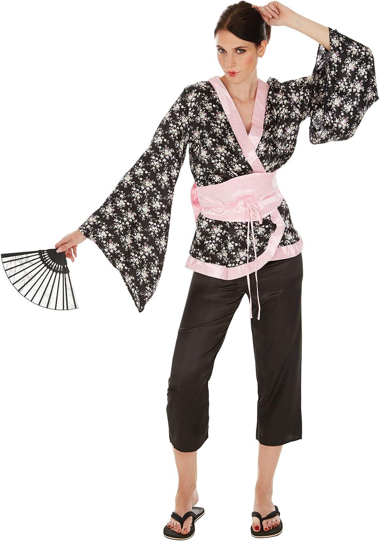 TecTake dressforfun Disfraz de Geisha para Mujer | Kimono ...