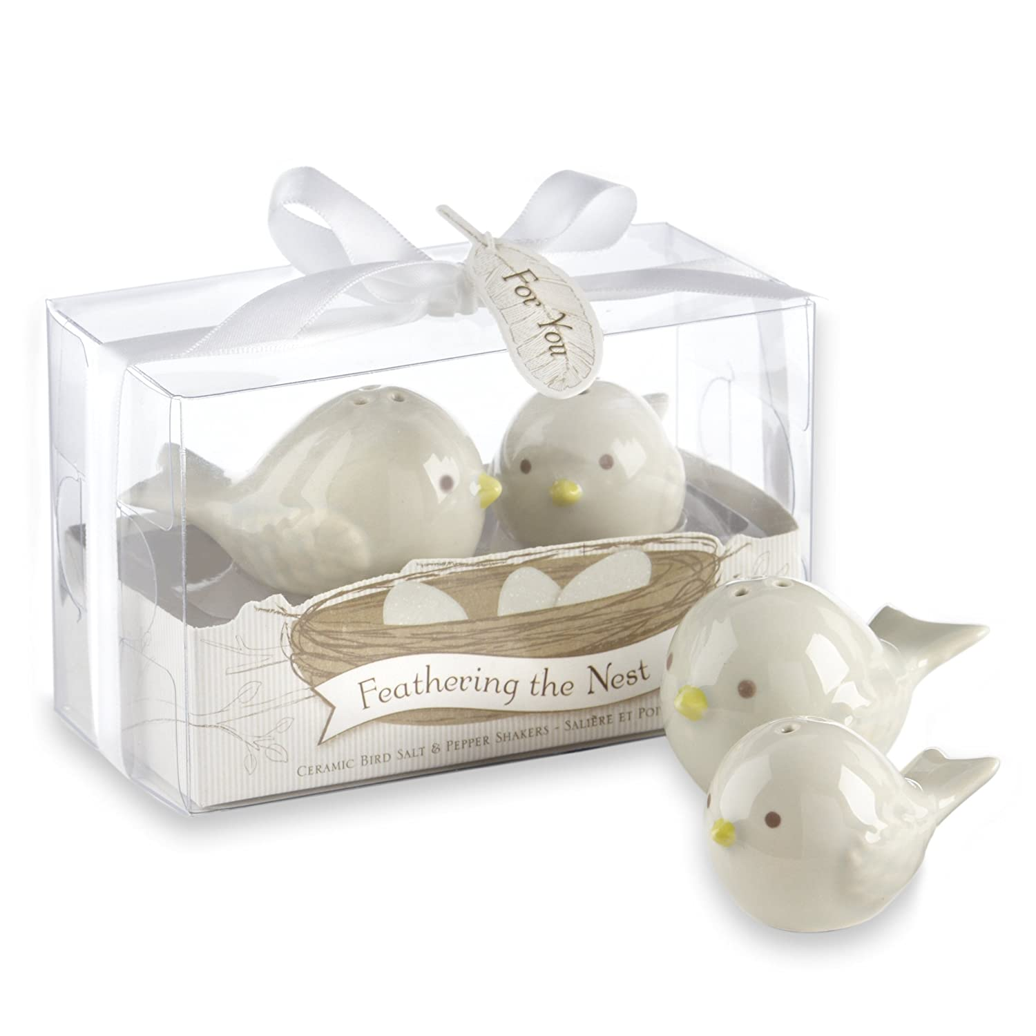 Amazon Kate Aspen Feathering The Nest Ceramic Birds Salt And