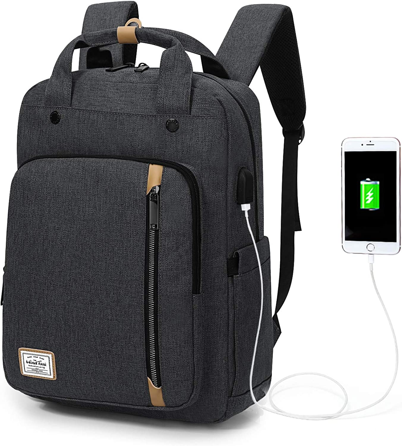 """WindTook Laptop Backpack for Women and Men Travel Computer Bag School College Daypack Suits Notebook Up to 15.6"""""""