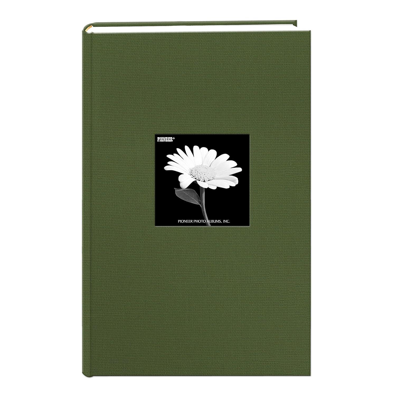 Pioneer Photo Albums 300 Pocket Fabric Frame Cover Photo Album, Herbal Green DA-300CBFNHG