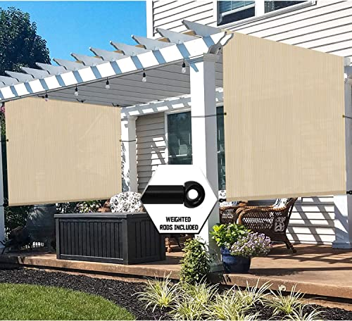 TANG 12'x35' Beige Outdoor Sun Shade Panel Universal Pergola Replacement Cover Canopy