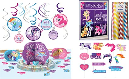 ~ Birthday Party Supplies 12 MY LITTLE PONY THE MOVIE HANGING SWIRL DECORATIONS