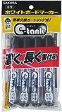 サクラクレパス ボードマーカー イータンク 中字 WBKCM4-P 黒 4本