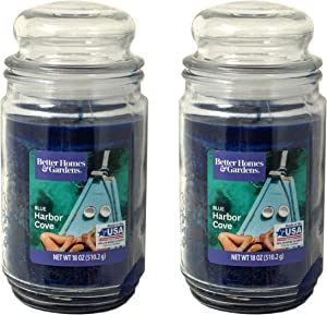 Better Homes Gardens 18oz Scented Candle, Blue Harbor Cove 2-Pack