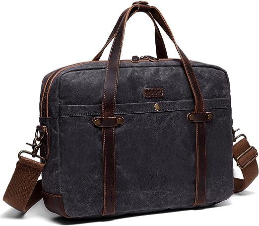 Laptop Business Briefcase for Men Business Briefcase for Men Shoulder Handbags with an Removable Shoulder Strap Multifunction Briefcase Water Resistant Messenger Shoulder Bag with Strap
