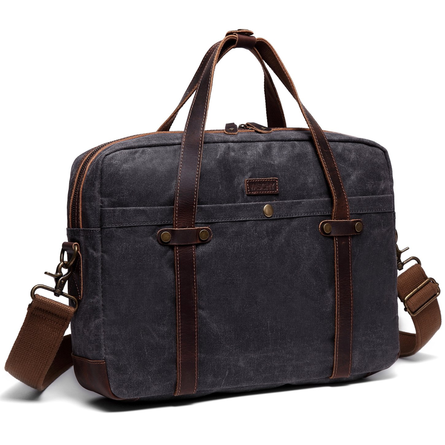 Briefcase for Men,Vaschy Water Resistant Messenger Bag fits 15.6 Laptop Shoulder Bag for Men