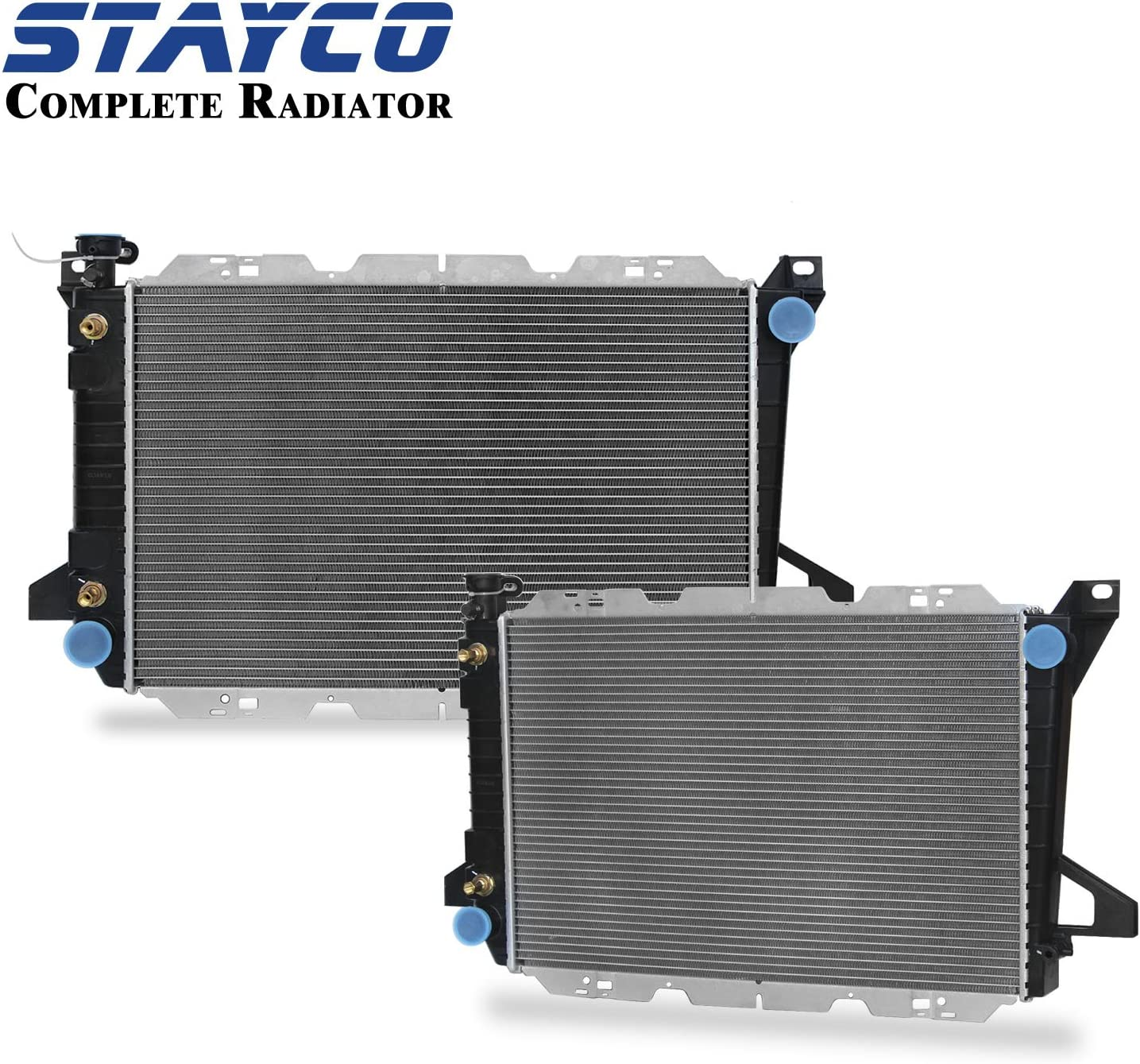 2-Rows CU1451 Radiator Replacement for Ford Bronco F-150 F-250 1985-1996 V8 5.0L 5.8L 7.5L