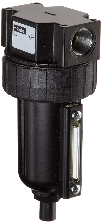 Parker Filtro de aire comprimido, elimina partículas, Metal cuenco con manómetro de vista, Auto flotador de drenaje: Amazon.es: Amazon.es