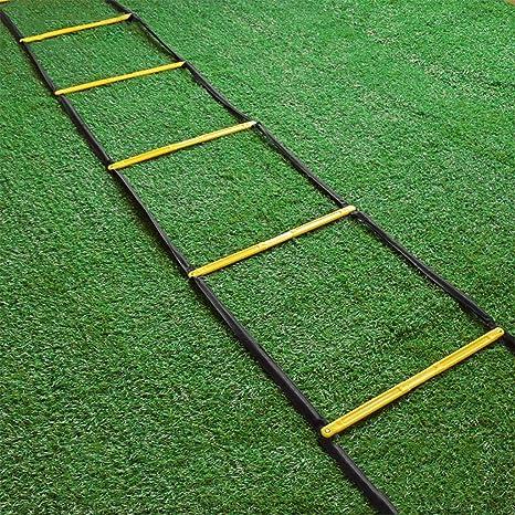 Xin Agilidad Ladder- Fijo Escalera peldaños de Velocidad - 12 de escalón Velocidad Escalera, fútbol, Deportes, Ejercicio, Entrenamiento Footwork: Amazon.es: Deportes y aire libre