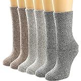 Women's Super Thick Wool Socks Winter Knit Vintage Socks Thicken Warm Socking Casual Cozy Crew Socks Fuzzy Socks Gifts